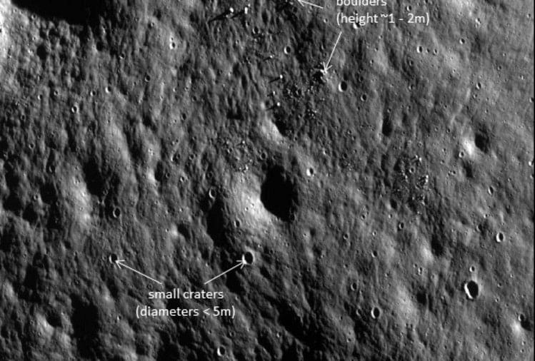 चंद्रयान 2 के आर्बिटर से भेजी गई तस्वीर