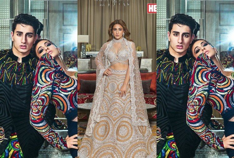 sara ali khan looks stunning in regal photoshoot with brother ibrahim khan for hello magazine