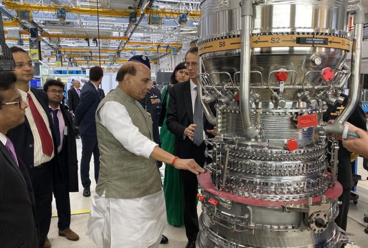Defence Minister Rajnath singh at French multinational Safran
