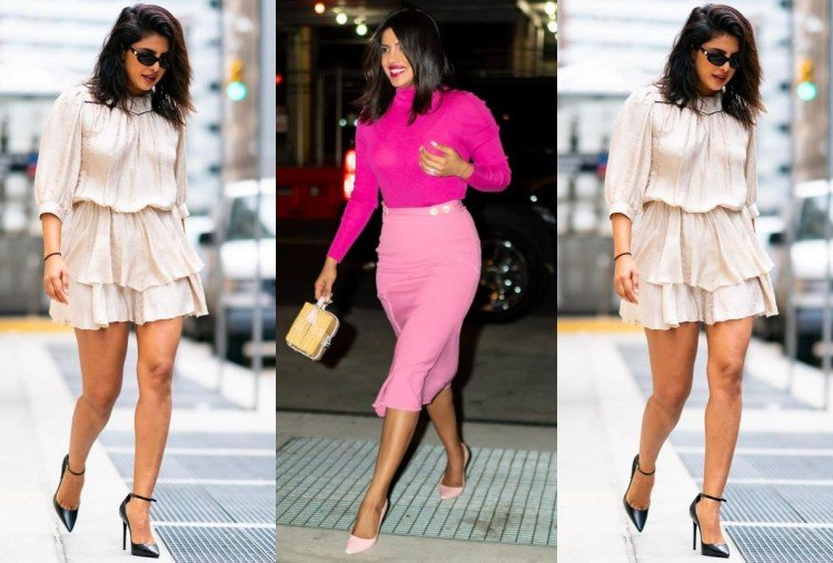 priyanka chopra gives winter fashion goals in high neck pullover in new york