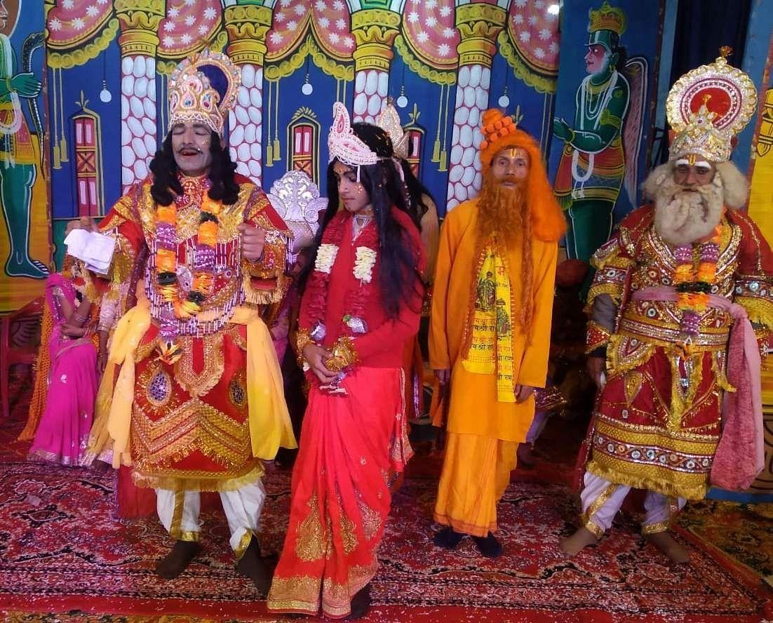 चंपावत के पाटी रामलीला में सीता विवाह को लेकर हुआ स्वयंवर।