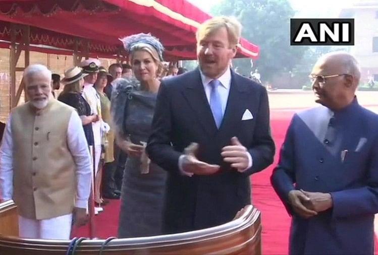 नीदरलैंड के राजा और रानी पांच दिनों के भारत दोरे पर पहुंचे हैं