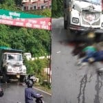 Tourist Two Youth Scooty Collide with truck in Mussoorie Scary death on spot