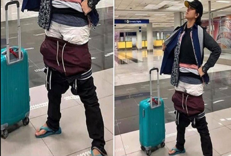 एयरपोर्ट पर महिला ने की ऐसी अजीबोगरीब हरकत के लिए इमेज परिणाम