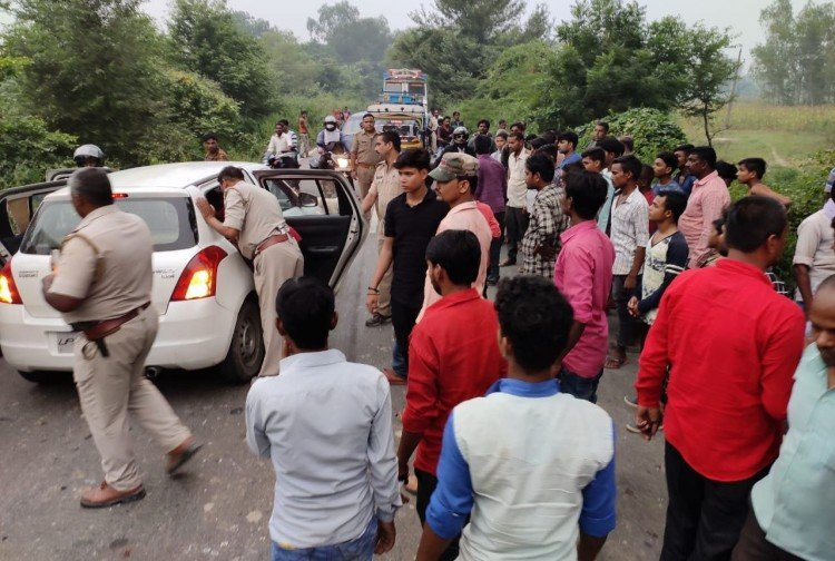 a girl child died in road accident