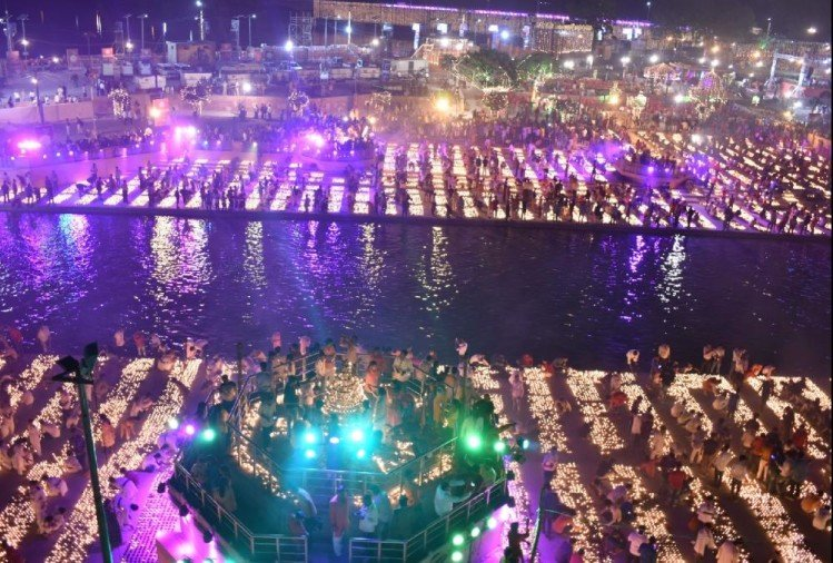 History created in Ayodhya as nearly 6 lakh diyas lit up Saryu banks on Diwali