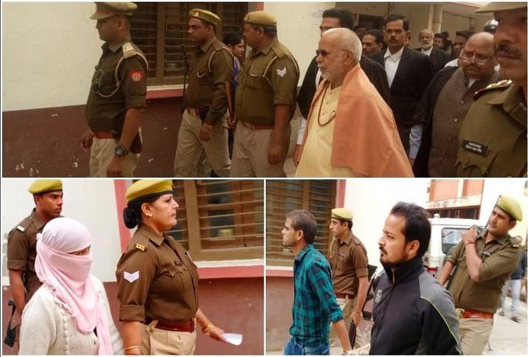 पूर्व केंद्रीय गृह राज्यमंत्री चिन्मयानंद और छात्रा प्रकरण में एसआईटी ने बुधवार को सीजेएम कोर्ट में चार्जशीट दाखिल कर दी। इसी के साथ ही दुष्कर्म के आरोपी चिन्मयानंद और फिरौती मामले में आरोपी छात्रा और उसके दोस्तों को भी कोर्ट लाया गया।