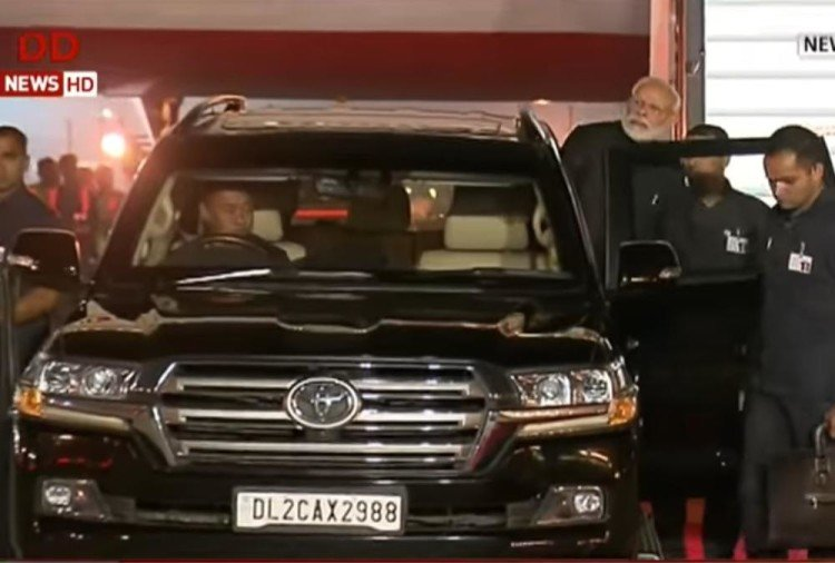 PM Modi Land Cruiser Black
