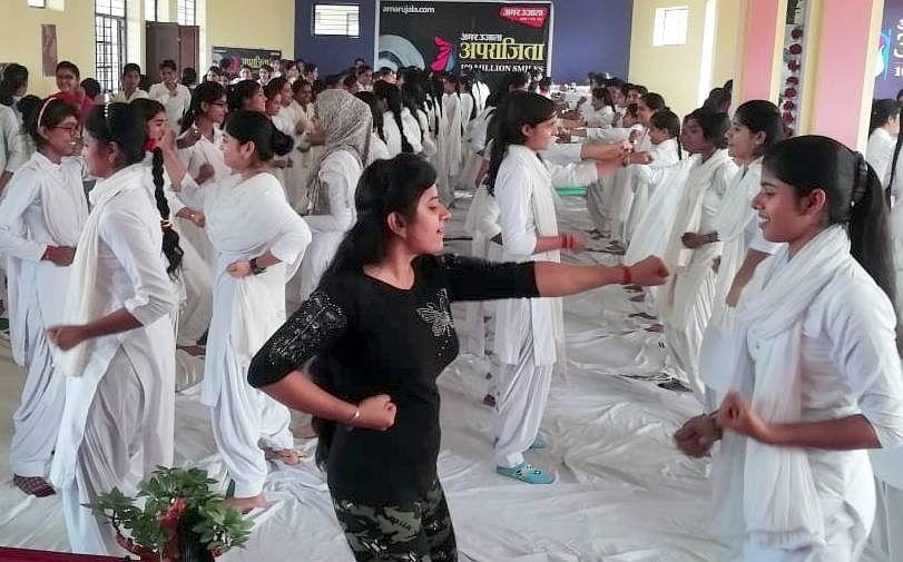 शामली हिन्दू महिला माहाविद्यालय  में अमर उजाला द्वारा आयोजित अपराजिता अभियान के कार्यक्रम  में ?