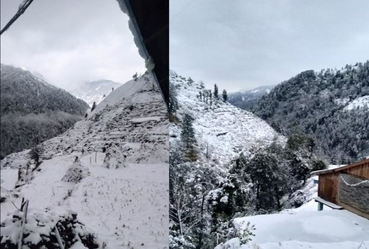 Himachal: One died of cold in Chamba, three highway closed due to snowfall, many areas cut