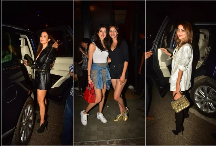 malaika arora wear black dress in son arhaan khan 17th birthday