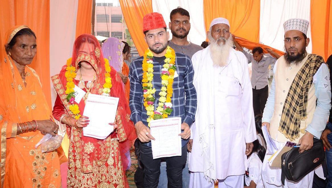 मुख्यमंत्री सामूहिक विवाह सम्मेलन में मुस्लिम जोड़ों ने कबूला निकाह