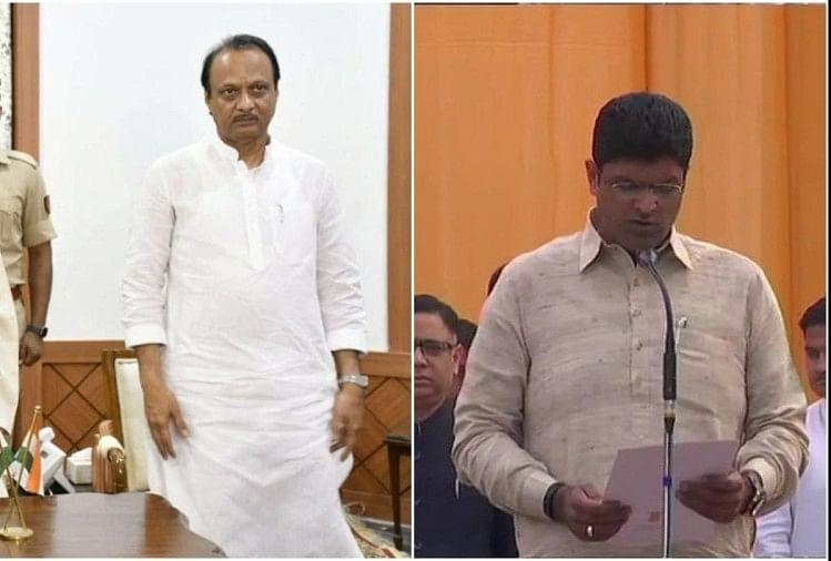 Ajit pawar and Dushyant Chautala