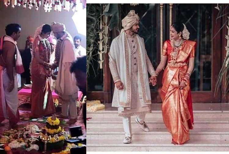 cricketer manish pandey actress ashrita shetty wedding look