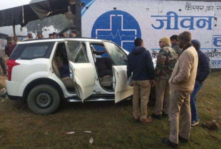 सहारनपुर में मंगलवार को दिन निकलते ही कार सवार 50 वर्षीय व्यक्ति की गला काटकर हत्या कर दी गई-