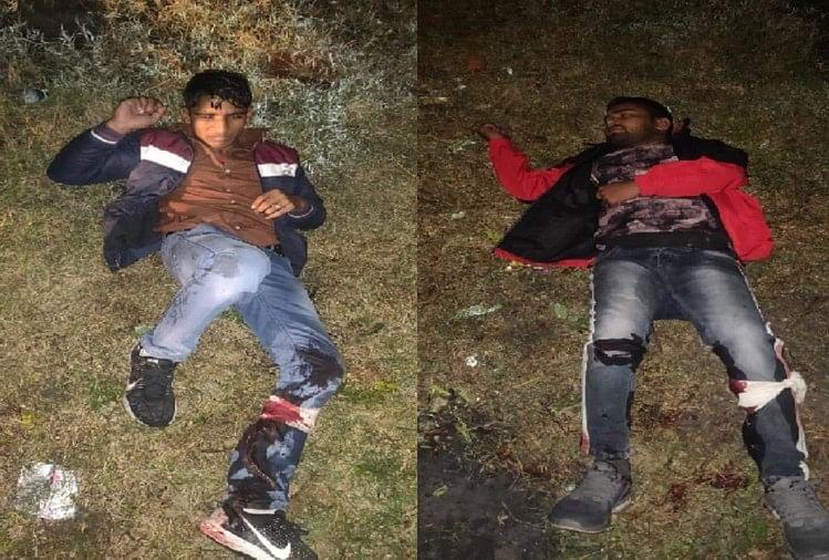 मुजफ्फरनगर की खतौली पुलिस ने मुठभेड़ में किराना व्यापारी से 50 हजार रुपये की रंगदारी मांगने वाले दो बदमाशों को पकड़ लिया। पुलिस की गोली पैरों में लगने से दोनों बदमाश घायल हो गए।