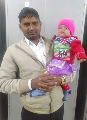 One year old Preeti got her own parents