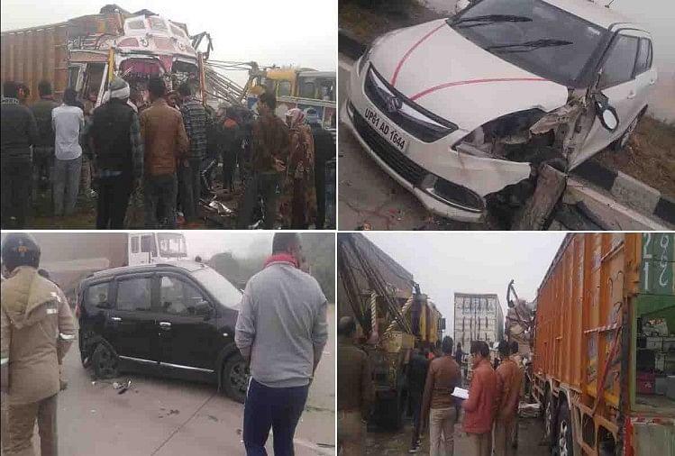 कानपुर देहात के अकबरपुर कोतवाली क्षेत्र में नेशनल हाइवे पर के कोहरे के चलते जोरदार सड़क हादसा हुआ। यहां कोहरे की वजह से 6 वाहनों की आपस में टक्कर हो गई।