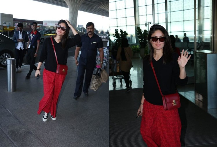 kareena kapoor carry red sling small bag price is 2.1 lakh