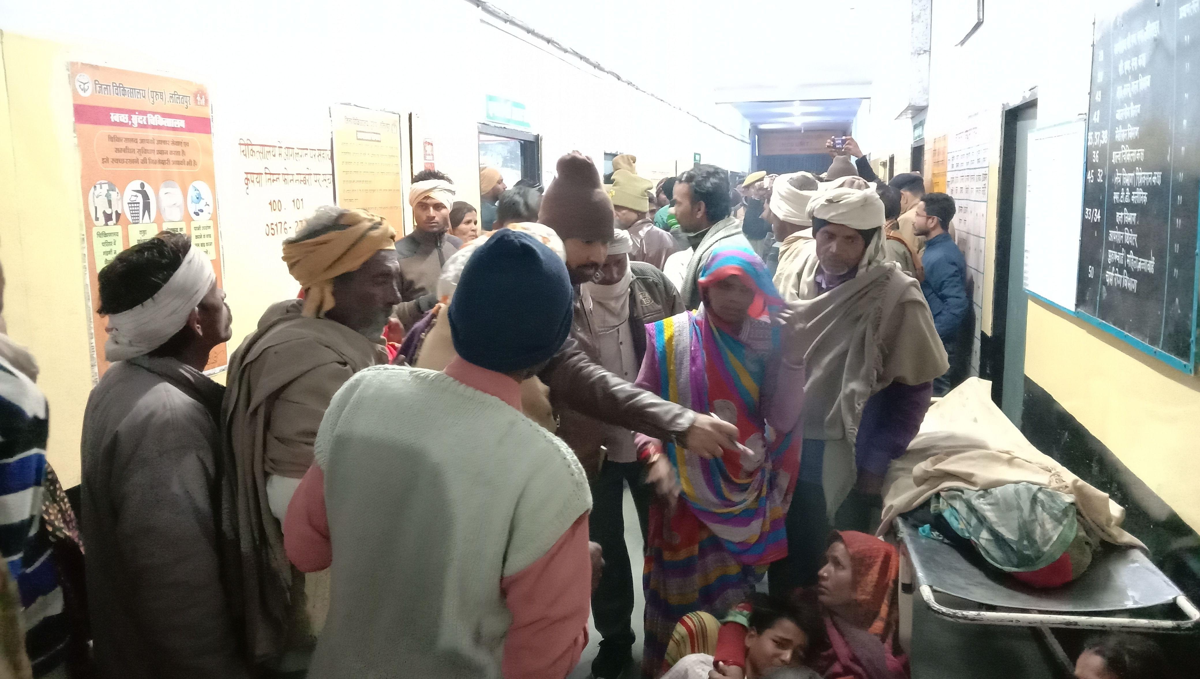 देवगढ़ रेलवे क्रासिंग के पास ओवरब्रिज का काम कर रही क्रेन पलटने से मृत महिला के पास जिला अस्पताल ?