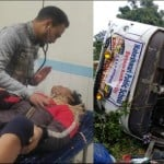 School children from Rajasthan who came to visit Nainital bus overturn on the road