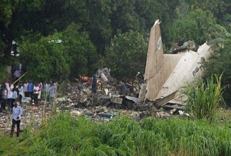 Image result for सूडान में सैन्य विमान हुई दुर्घटनाग्रस्त, 4 बच्चों समेत 18 लोगों की मौत