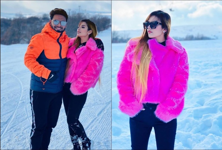 Rishabh Pant enjoys New Year vacations with girlfriend Isha Negi on snow capped mountains