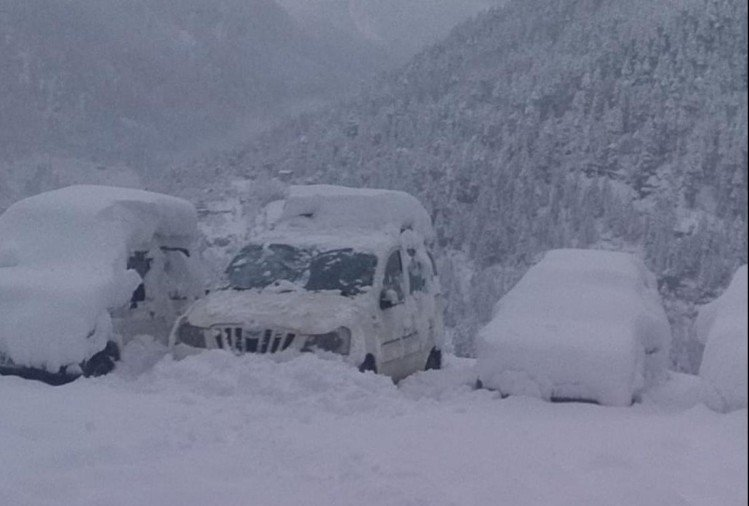 heavy snowfall in shimla seven hundred road blocked after heavy snowfall in himachal pradesh