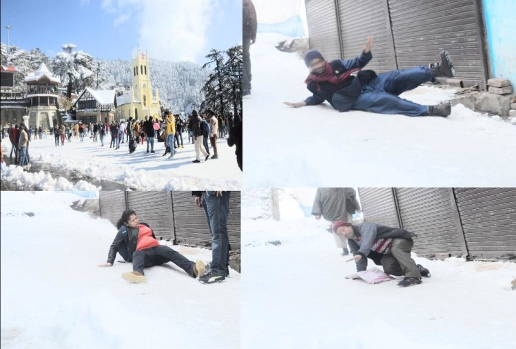 Snow becomes deadly in Shimla, one dead, 20 injured after slipping in snow