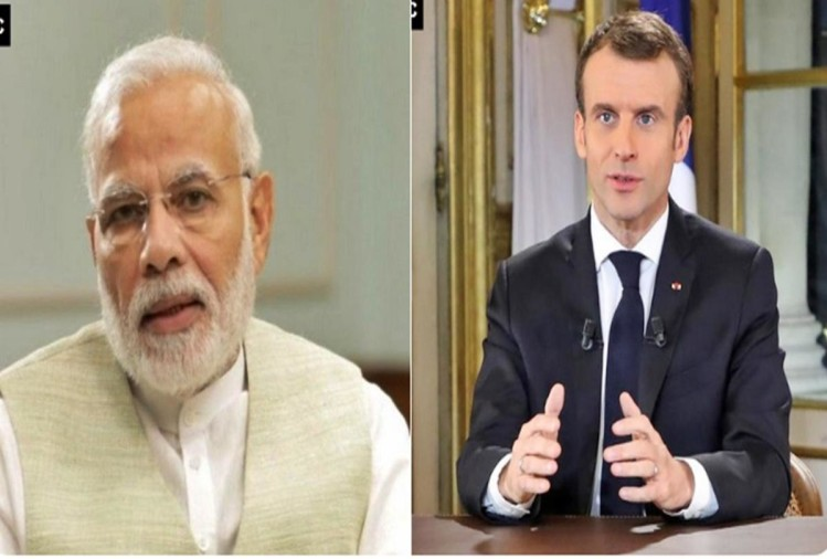 PM Narendra Modi and Emmanuel Macron
