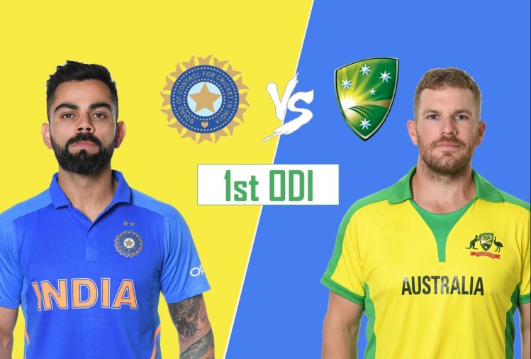 India vs Australia 1st odi live cricket score news match updates today