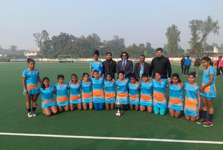 state level senior women hockey competition win Sports hostel Lucknow