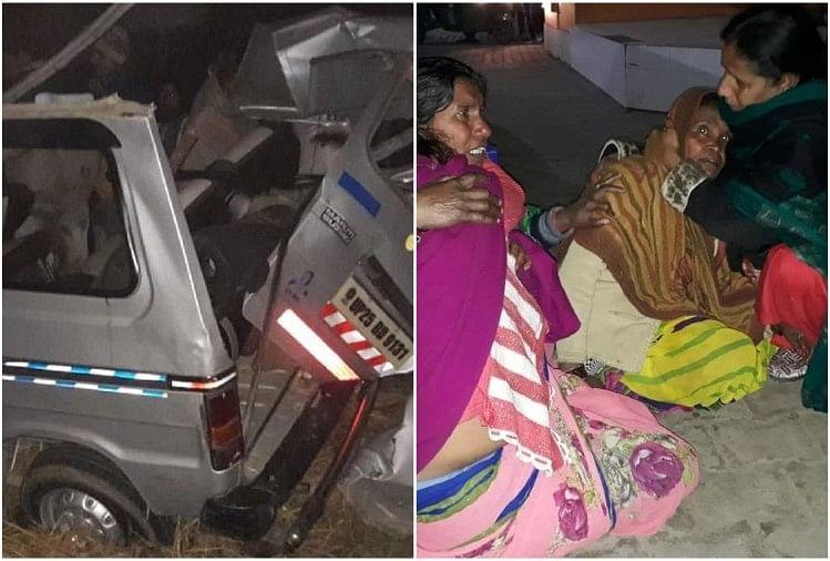 मुरादाबाद-फर्रुखाबाद हाईवे पर अलापुर के गांव संजरपुर के पास बुधवार देर रात रोडवेज बस और मारुति वैन की आमने-सामने की जबरदस्त टक्कर में तीन लोगों की मौत हो गई।