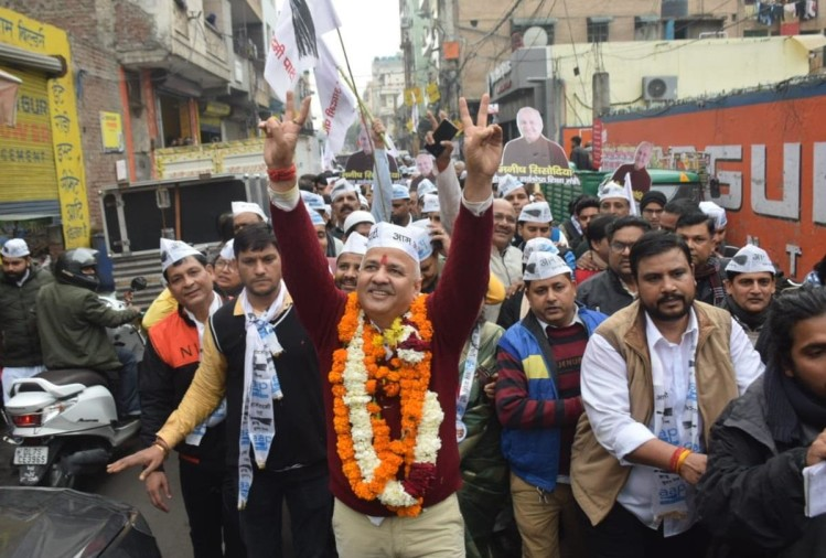 delhi election 2020 live updates manish sisodia rajendra pal file nominations