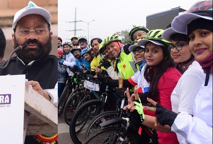 ईंधन और पर्यावरण बचाने की पहल में हिस्सा लेने के लिए बड़ी संख्या में लखनऊ के लोग साइकिल रैली में शामिल हुए और संकल्प लेकर साइकिल चलाई। रजिस्ट्रेशन के लिए शहर के जनेश्वर मिश्र पार्क में सुबह से ही प्रतिभागियों की भीड़ रही।