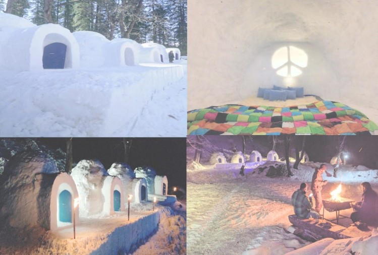 The igloo became a center of attraction at an altitude of nine thousand feet