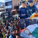 Huge Crowd in Martyred Soldiers Rahul Funeral, public Anger Show against pak in champawat