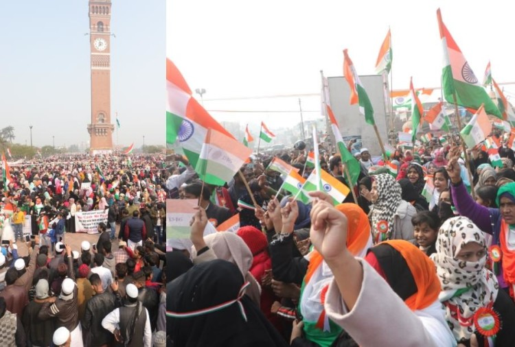 Women protesting against CAA celebrated Republic Day.