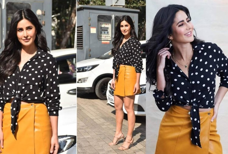 katrina kaif to kriti sanon in retro look wear black polka dot dress