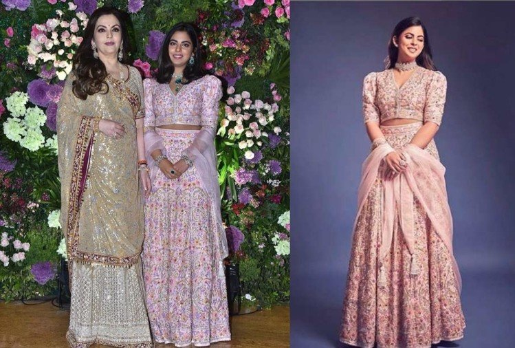 isha ambani repeats her lehenga for armaan jain wedding