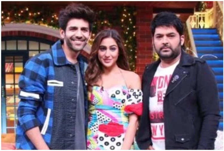 Kartik, Sara and Kapil Sharma