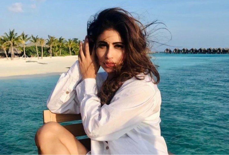 mouni roy spend vacation in maldives share photos in sheer white shirt