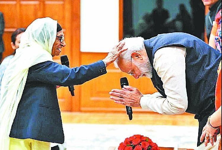 Womens Day, Man Kaur To Be Awarded The 'nari Shakti Puraskar' By The  President - 103 साल की मान कौर को मिला 'नारी शक्ति' पुरस्कार, दोबारा सामने  देख पीएम मोदी हुए नतमस्तक -