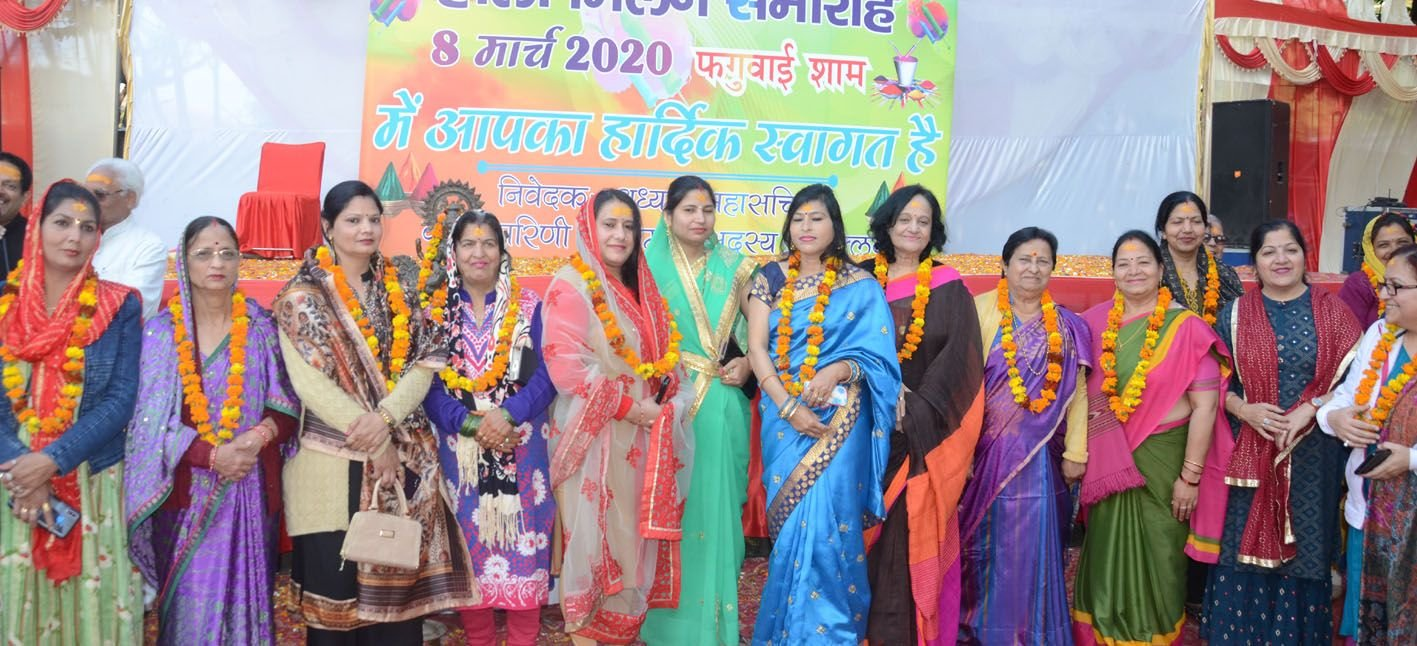 प्रेस क्लब में महिला दिवस पर महिलाओं को किया गया सम्मानित ।