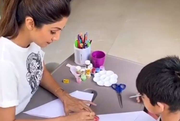 learn from shilpa shetty to how occupied your children during lockdown