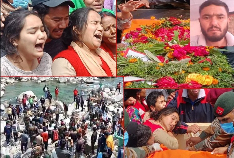 Martyr devendra singh Funeral after Died in jammu kashmir kupwara, All village Crying, Photos