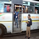 Students trapped in Kota during the lockdown were brought to Prayagraj on Saturday night by special roadways bus.