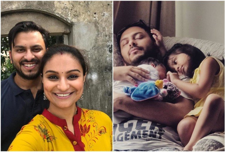 Dimpy with Husband son and daughter
