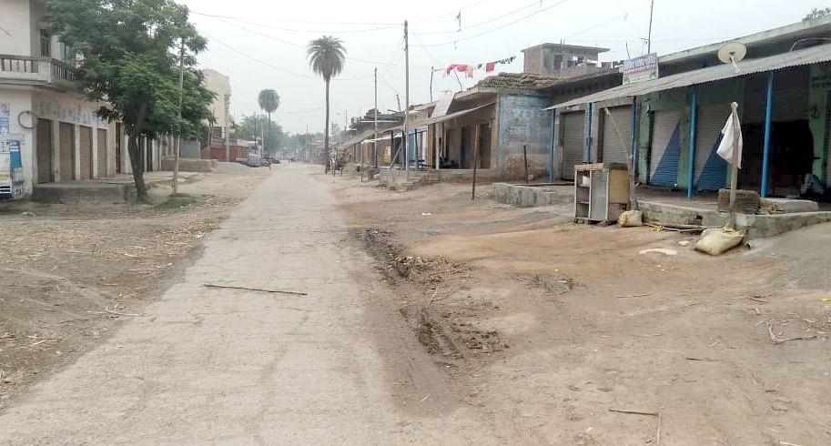 हीमपुरदीपा क्षेत्र के गांव रेहरा में पसरा सन्नाटा।