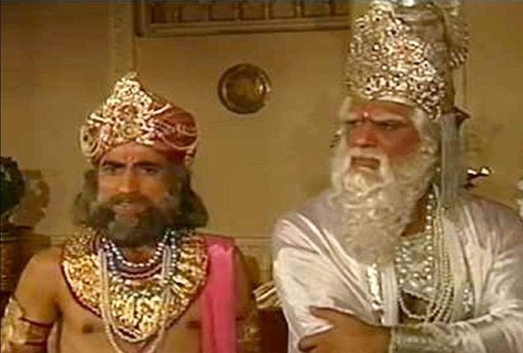 Netizens Spotted An Air Cooler Behind Bhishma Pitamah From Mahabharat Compared With Game Of Thrones मह भ रत भ ष म प त मह क प छ क लर द ख स शल म ड य पर आई म म स क ब ढ ग म ऑफ